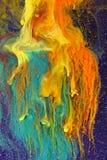 абстрактный цветастый смешивать чернил стоковые изображения