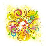 абстрактный цветастый состав Стоковое Изображение RF