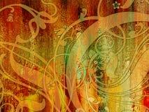 абстрактный цветастый чертеж Стоковые Фото