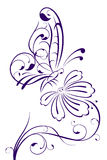 абстрактный цветок бабочки Стоковая Фотография RF