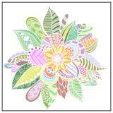Абстрактный цветок в стиле Doodle Стоковое фото RF