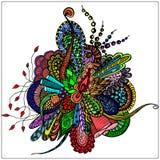 Абстрактный цветок в стиле Doodle Стоковое Изображение