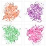 Абстрактный цветок в стиле Doodle Стоковые Фотографии RF
