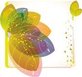 абстрактный цветок карточки Иллюстрация штока