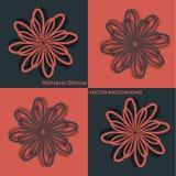 абстрактный цветок предпосылки Стоковое Изображение RF