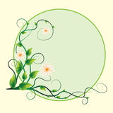 Абстрактный цветок свирли предпосылки стикера Стоковое Изображение RF