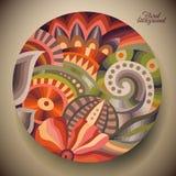 Абстрактный цветок с круглым ярлыком Стоковые Изображения