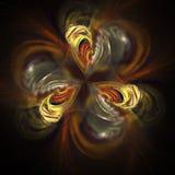 Абстрактный цветок фрактали на черной предпосылке Стоковые Фото
