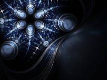 Абстрактный цветок фрактали с детальной картиной Стоковое Фото