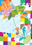 абстрактный цветок чывства eps doodle Стоковая Фотография