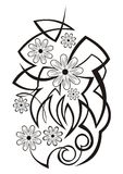 абстрактный цветок элемента иллюстрация штока