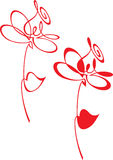 абстрактный цветок Стоковая Фотография RF