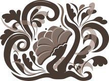 Абстрактный цветок Sepia иллюстрация штока