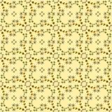 Абстрактный цветочный узор на желтой предпосылке Стоковое Изображение RF