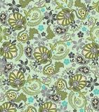 Абстрактный цветочный узор Пейсли Стоковое фото RF