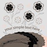 Абстрактный цветочный узор сорванной линии Стоковое Фото
