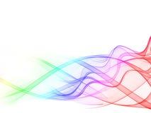 абстрактный цвет волнистый Стоковое Изображение