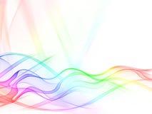 абстрактный цвет волнистый Стоковая Фотография