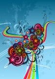 абстрактный цвет в стиле фанк Стоковое Изображение RF