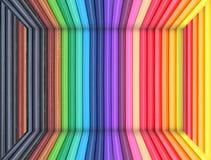 абстрактный цвет сделал карандаши Стоковые Фотографии RF