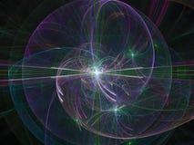 Абстрактный цвет цифровым, загадочным визуальным сияющим данным по воображения пропуская творческий конструирует, фантазия фракта иллюстрация вектора