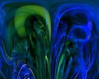 Абстрактный цифровой график света фрактали творческий, представляет художественный, элегантность, динамика бесплатная иллюстрация