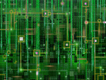 Абстрактный цифровой электронный дизайн предпосылки Стоковое Изображение
