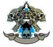абстрактный череп Стоковая Фотография