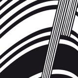 Абстрактный черно-белый состав с горизонтальной рамкой для сообщения Стоковая Фотография