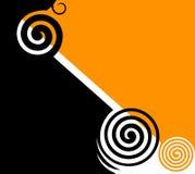 абстрактный черный желтый цвет twirls Стоковые Фото