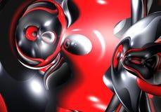 абстрактный черный красный космос Стоковое Изображение