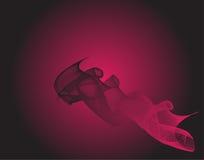 Абстрактный черный розовый волнистый градиент предпосылки смеси иллюстрация штока