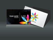 абстрактный черный шаблон визитной карточки Стоковые Изображения