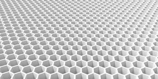 Абстрактный черный шестиугольник предпосылки текстуры, перевод 3D концепции Sci fi черно-белый стоковое изображение