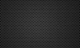 Абстрактный черный шестиугольник предпосылки текстуры, перевод 3D концепции Sci fi черно-белый стоковое фото rf