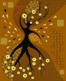 Абстрактный чертеж дерева подобного к женщине Стоковые Изображения RF
