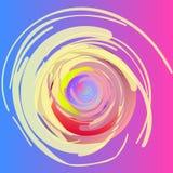 абстрактный чертеж Спирали, пушистые переплетая круги, покрашенные с большими ходами Альтернативная предпосылка Стоковое Фото