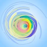 абстрактный чертеж Спирали, пушистые переплетая круги, покрашенные с большими ходами Стоковые Изображения RF