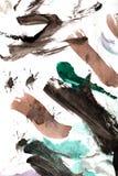 Абстрактный чертеж с акварелями Стоковое Фото