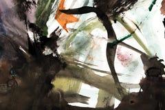 Абстрактный чертеж с акварелями Стоковые Изображения