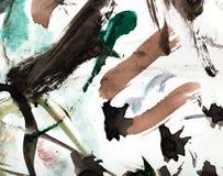 Абстрактный чертеж с акварелями Стоковое Изображение