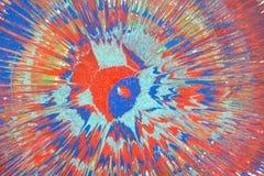 Абстрактный чертеж с акрилами на холсте Стоковые Изображения