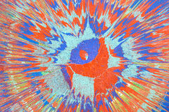 Абстрактный чертеж с акрилами, предпосылка Стоковая Фотография RF