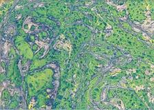 Абстрактный чертеж с краской акварели Стоковая Фотография
