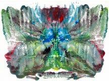 Абстрактный чертеж с краской акварели Стоковые Фотографии RF