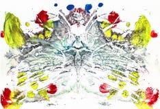 Абстрактный чертеж с краской акварели Стоковое Фото
