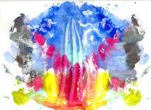 Абстрактный чертеж с краской акварели Стоковое фото RF