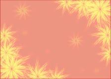 Абстрактный чертеж с флористическим мотивом Рамка Стоковое Изображение RF