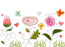 абстрактный чертеж флористический Стоковое Изображение RF
