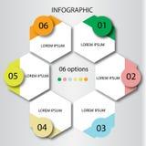 Абстрактный шаблон вариантов номера infographics также вектор иллюстрации притяжки corel смогите быть использовано для плана пото Стоковые Фото